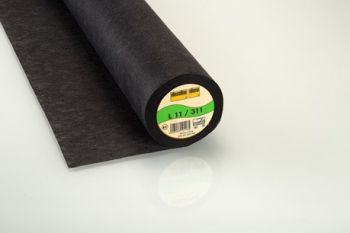 Charcoal Light Weight Standard Sew-in Non-Woven Interfacing/Interlining by Vilene Vlieseline 90cm wide