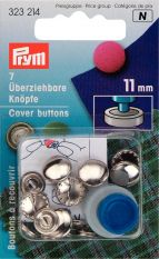 Prym Metal Cover Button with Tool 11mm 7pc