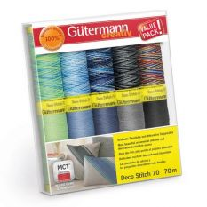 Gutermann Deco Stitch Thread set 70m x 12 reels
