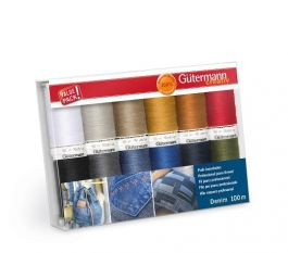 Gutermann Denim Thread set 100m x 12 reels
