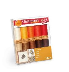 Gutermann Cotton Thread set Reds/Browns 100m x 10 reels
