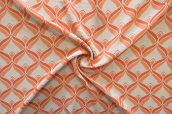 Lady McElroy Back To The 70s - Peach Melba Viscose Challis Lawn