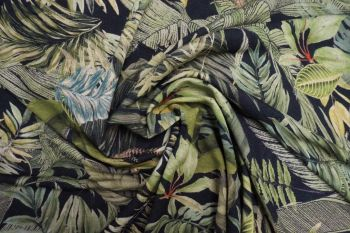 Lady McElroy Foliage Canopy Crepe Jersey Remnant - 0.8m