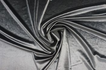 Lady McElroy Glass Velour - Metal Grey Remnant - 2.8m