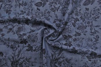 100% Cotton Chambray Denim Printed Fabric - OTL6002 Faulty Remnant 0.7M