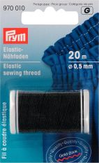 Prym 0.5mm Elastic Sewing Thread - Black 20m
