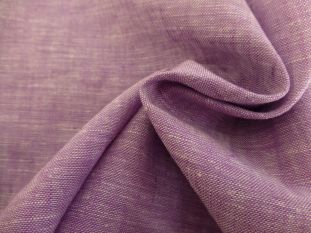 Linen Chambray Shirting Lilac Faulty Remnant - 0.6m