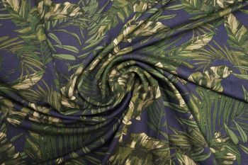 Lady McElroy Saniago Leaf - Marl Crepe Jersey Faulty Remnant - 2m